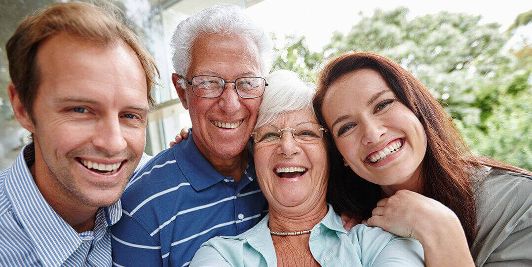 Adult children with parents